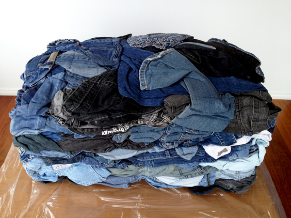 JEANBAG™ 45kg of denim jeans