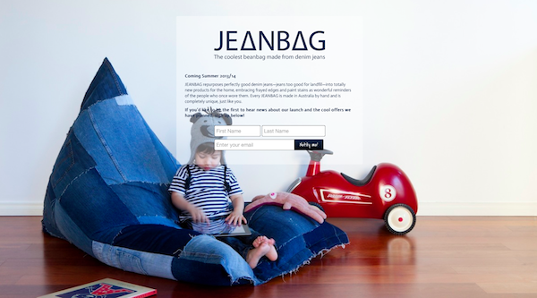 JEANBAG Website Opt-In Page